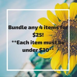 Any 4 items that are each under $30, for $25!